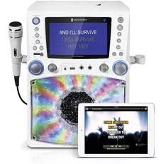 Writing Machine Bluetooth Karaoke System with LED Disco Lights