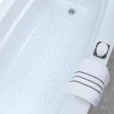 Rebrilliant Loraine Pebble Rectangle Non-Slip Shower Mat